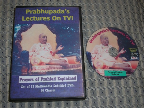 Prayers of Prahlad Explained - Set of 13 Multimedia Subtitled DVDs - 40 Classes